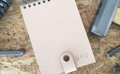 【父の日企画】オーダーノート レザー刻印サービス