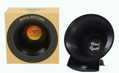 レコードから作られたスピーカー「BINALRECORD」