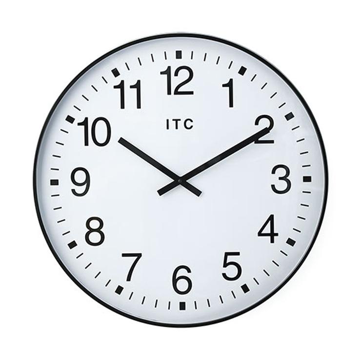 時間が確認しやすい!ビジネスユースなシンプル掛け時計