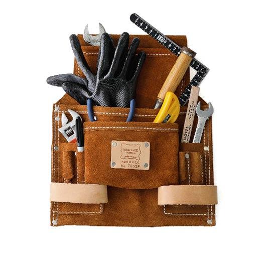 豊富なポケットに道具を詰めてDIYを楽しんで