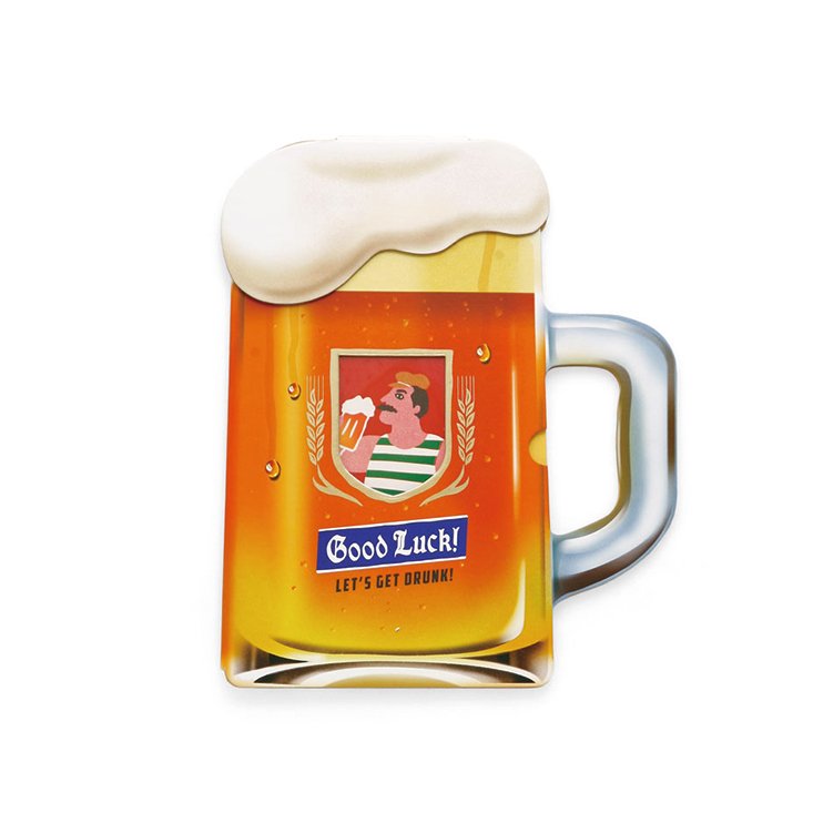 新しい道を歩み始めたあの人に乾杯!ビールジョッキの色紙
