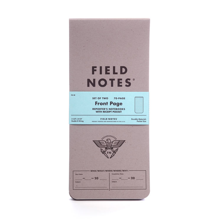 FIELD NOTES渾身の1冊「FRONT PAGE」