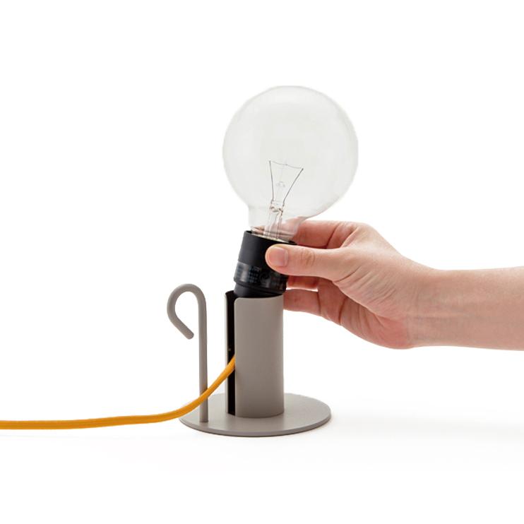 コードの色を選べる照明「Pit. 」ライトホルダー