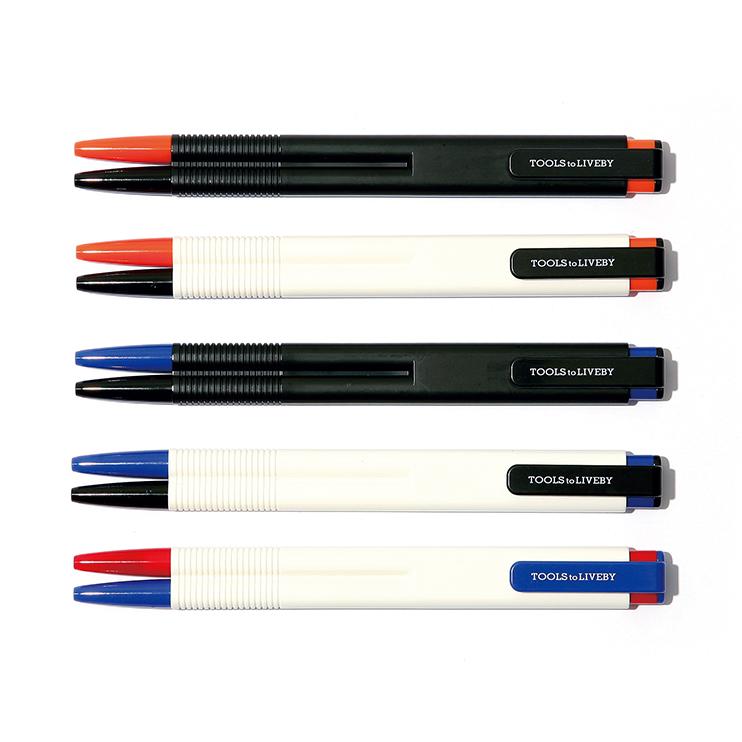 2つのペンを直接融合したデュアルカラーボールペン