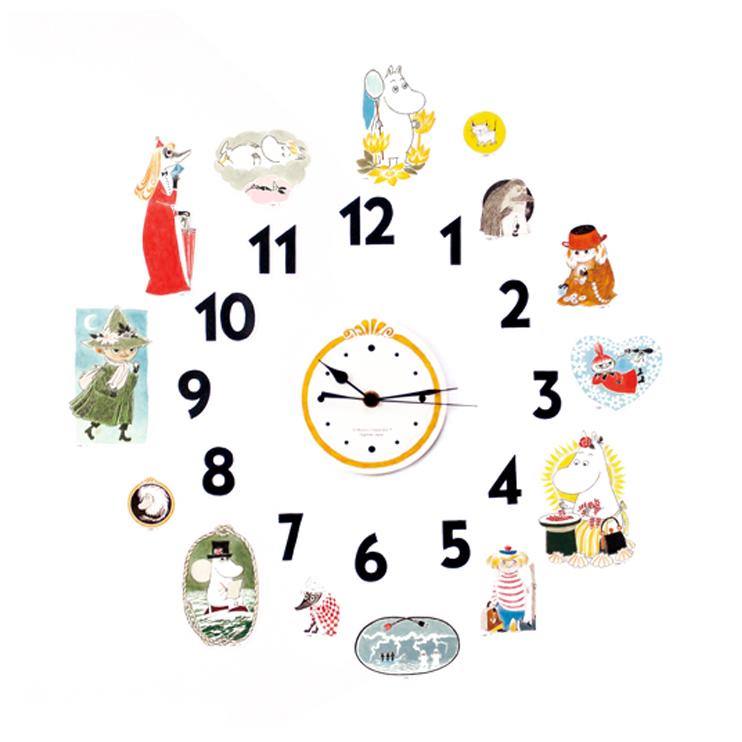自由に飾れる、ムーミンの壁掛け時計