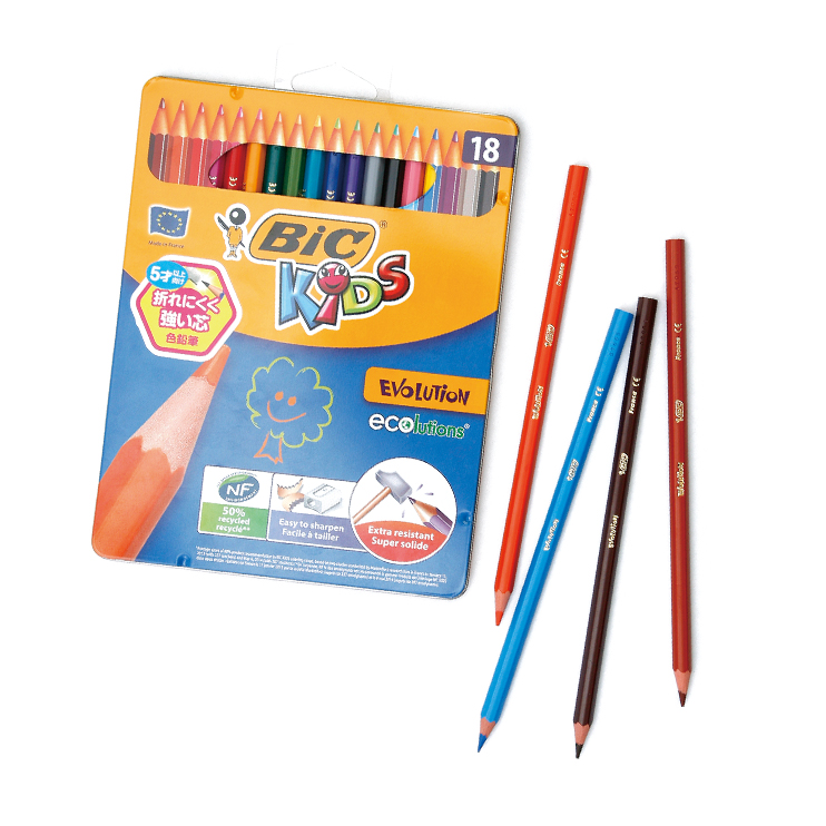 落としても芯が折れにくい色鉛筆