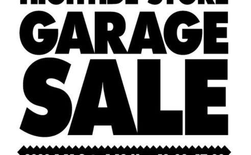 HIGHTIDE STORE GARAGE SALE!!