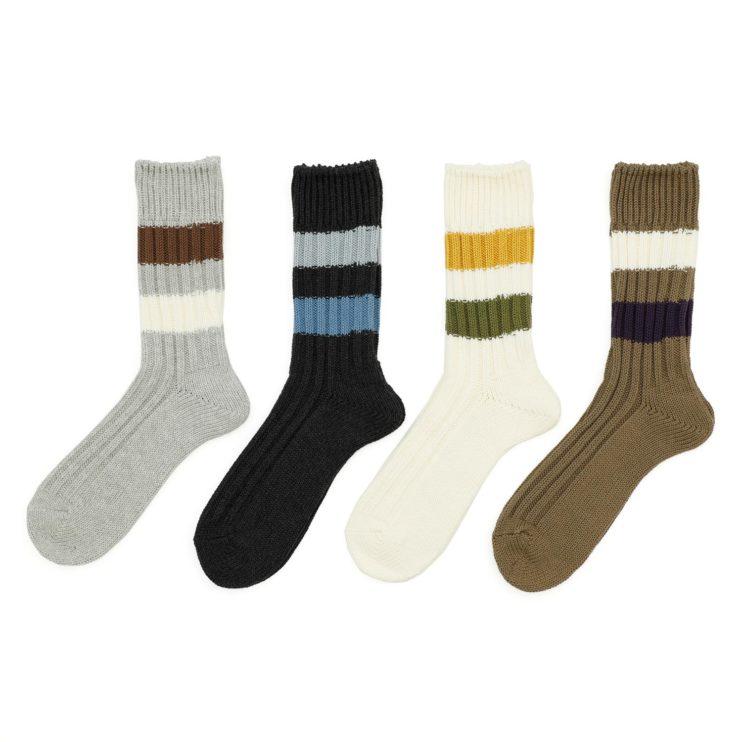 手編みのような風合いが特徴のローゲージソックス「CITRUS」